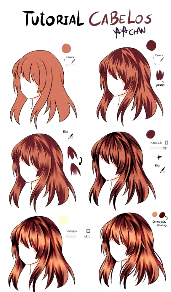 30 How To Draw Hair Hair In 2020 Anime Hair Color How To Draw Hair Drawing Hair Tutorial