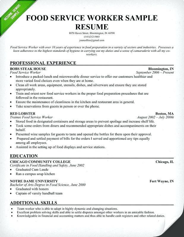 Sample Janitor Resume Janitor Resume Skills Janitor Resume Template Lovely Best Resume Genius Resume Samples Food Service Worker Resume Examples Sample Resume