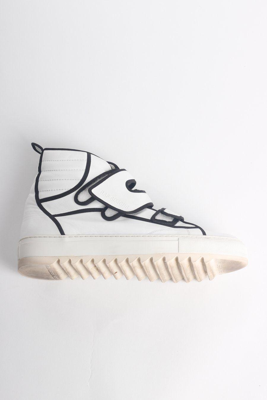 5952fad3a35d RAF SIMONS Velcro Fastening Hi-top Sneakers EU 44  UK 10