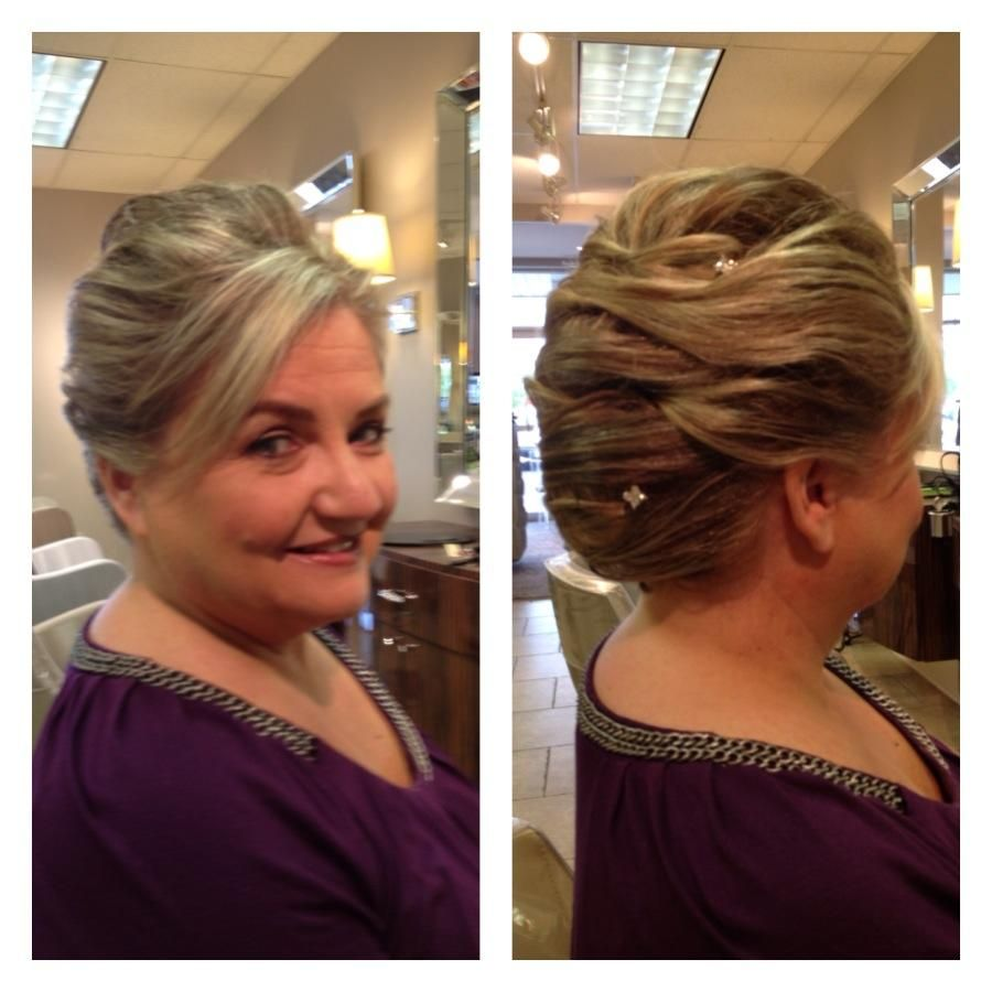 Elizabeth, Mother of the Groom. Special occasion hair by