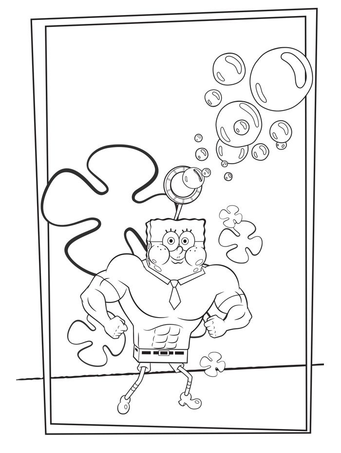 Little Baby Spongebob Coloring Pages For Kids With Images
