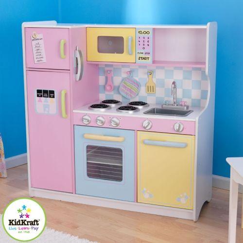 53181 2 kidkraft large pastel wooden play kitchen jpg 500 500 rh pinterest com kidkraft wooden play kitchen uk kidkraft gracie wooden play kitchen