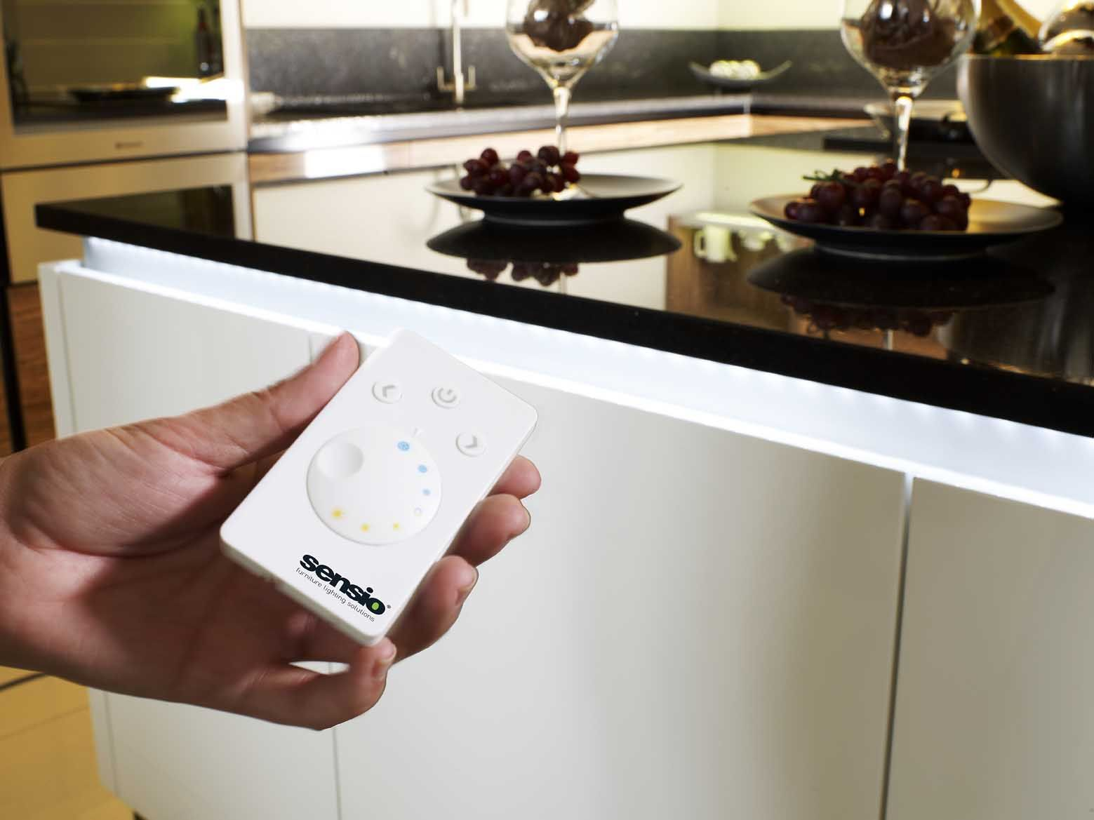 Use flexible strip lighting below the worktop on handless kitchens use flexible strip lighting below the worktop on handless kitchens to create a aloadofball Choice Image