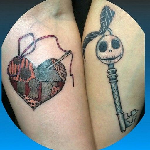 jack and sally lock and key my body is a canvas