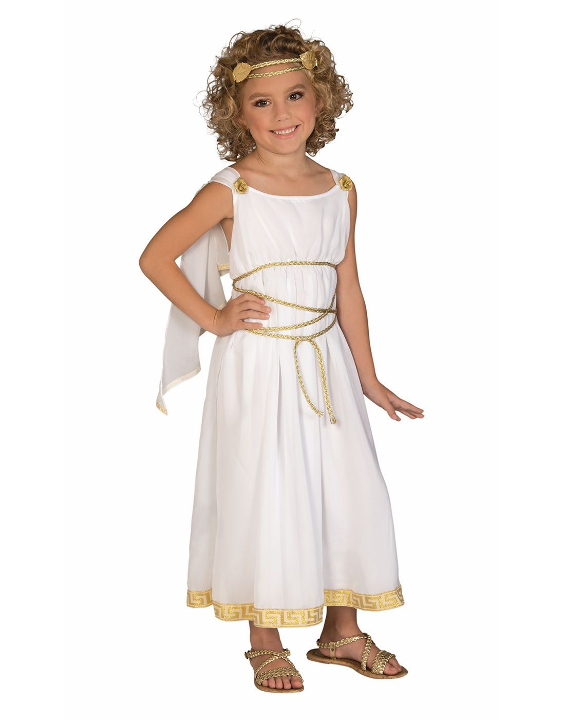 Childrens Ancient Roman Woman Girl Halloween Fancy Dress Up Party Costume Outfit