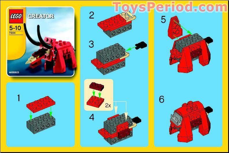 Dinosaur Free Instruction Page 1 My Kids Birthday Ideas Lego