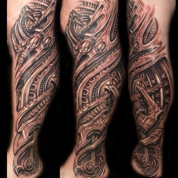 Pin By Pedro Chavez On Biomechanical Tattoos Biomechanical Tattoo Leg Tattoos Tattoos For Guys