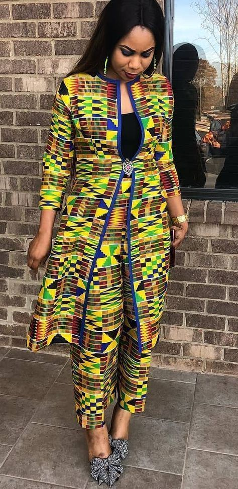 Couture Africaine Chic Robe Pagne Africaine Pinterest Mode