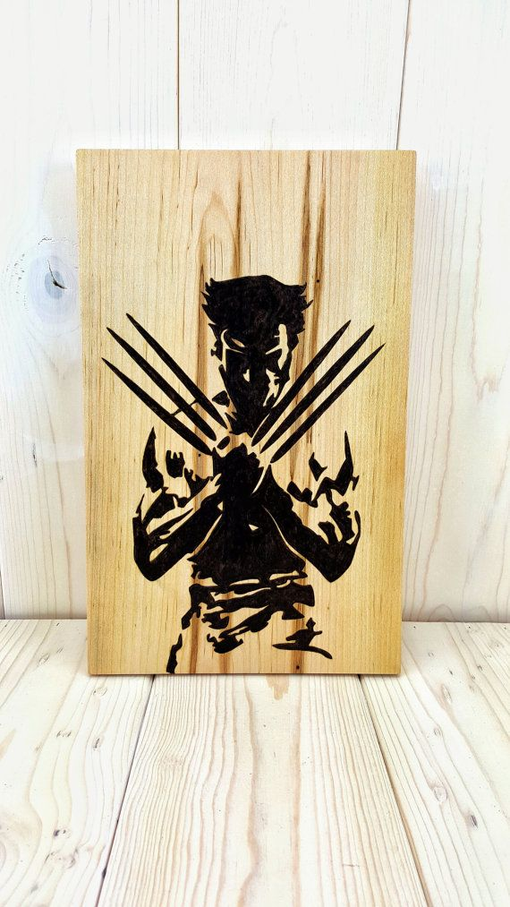 X-Men Wolverine Art - Woodburned Avengers Comic Book Wall Art ...
