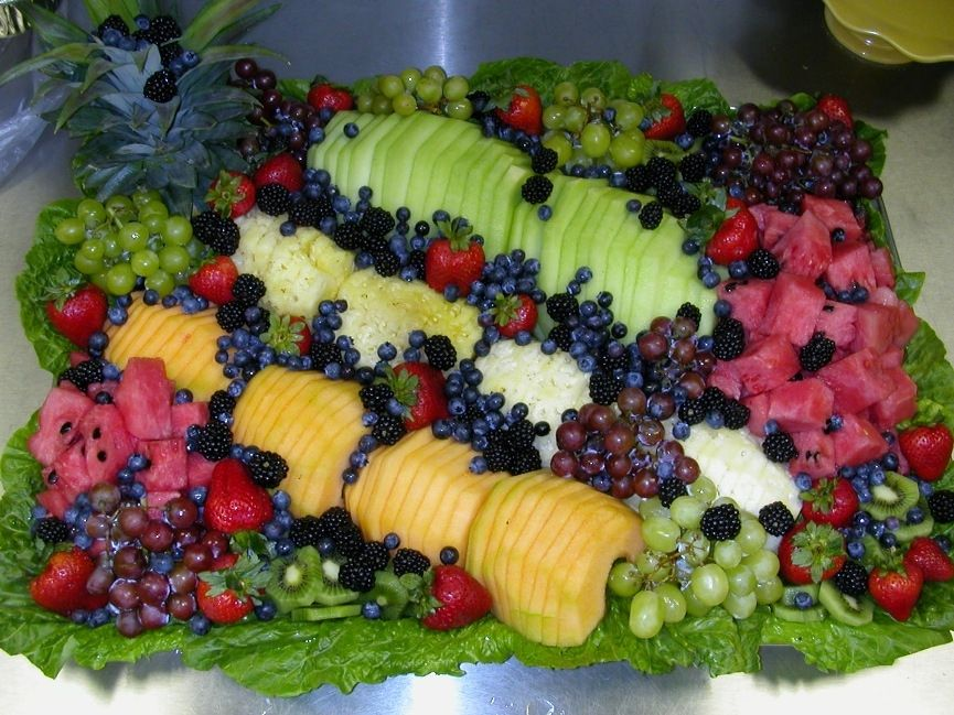 Decoração com frutas para a Ceia de Natal