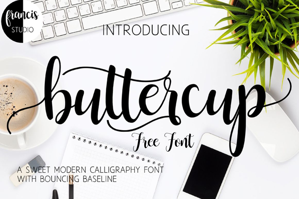 Buttercup Free Font Free script fonts, Free monogram