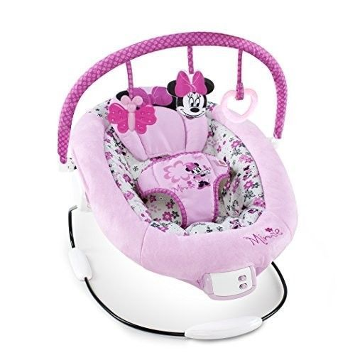 baby chair that vibrates hanging price minnie mouse bouncer seat disney gear infant newborn music new from 77 35