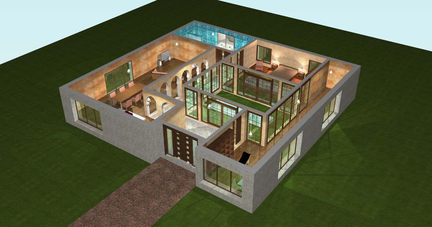 Plan Maison 3d 70m2 Plan De Maison Gratuit Plan Maison 3d Plan Maison