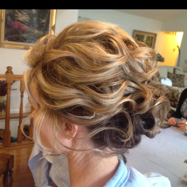 Loose Updos For Thin Hair: Bridesmaid Hair Side, Messy
