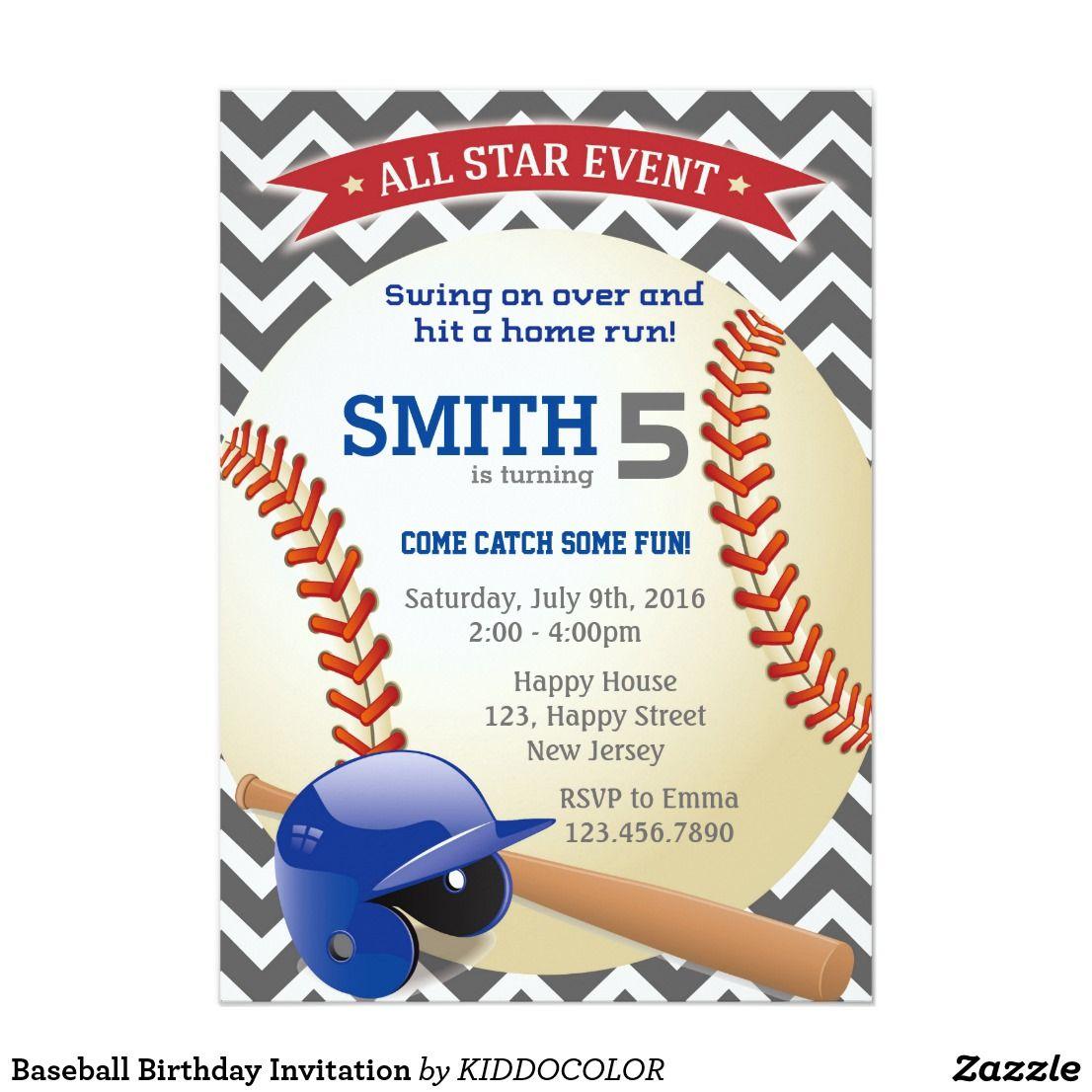 Baseball Birthday Invitation | Pinterest | Baseball birthday ...