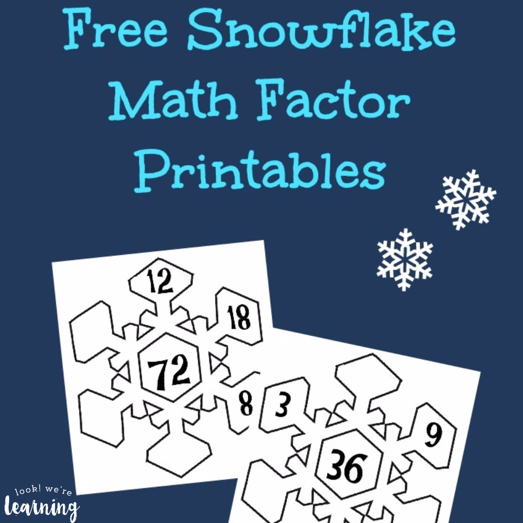 Snowflake Math Factor Printables