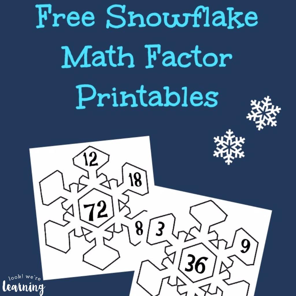 Snowflake Math Factor Printables