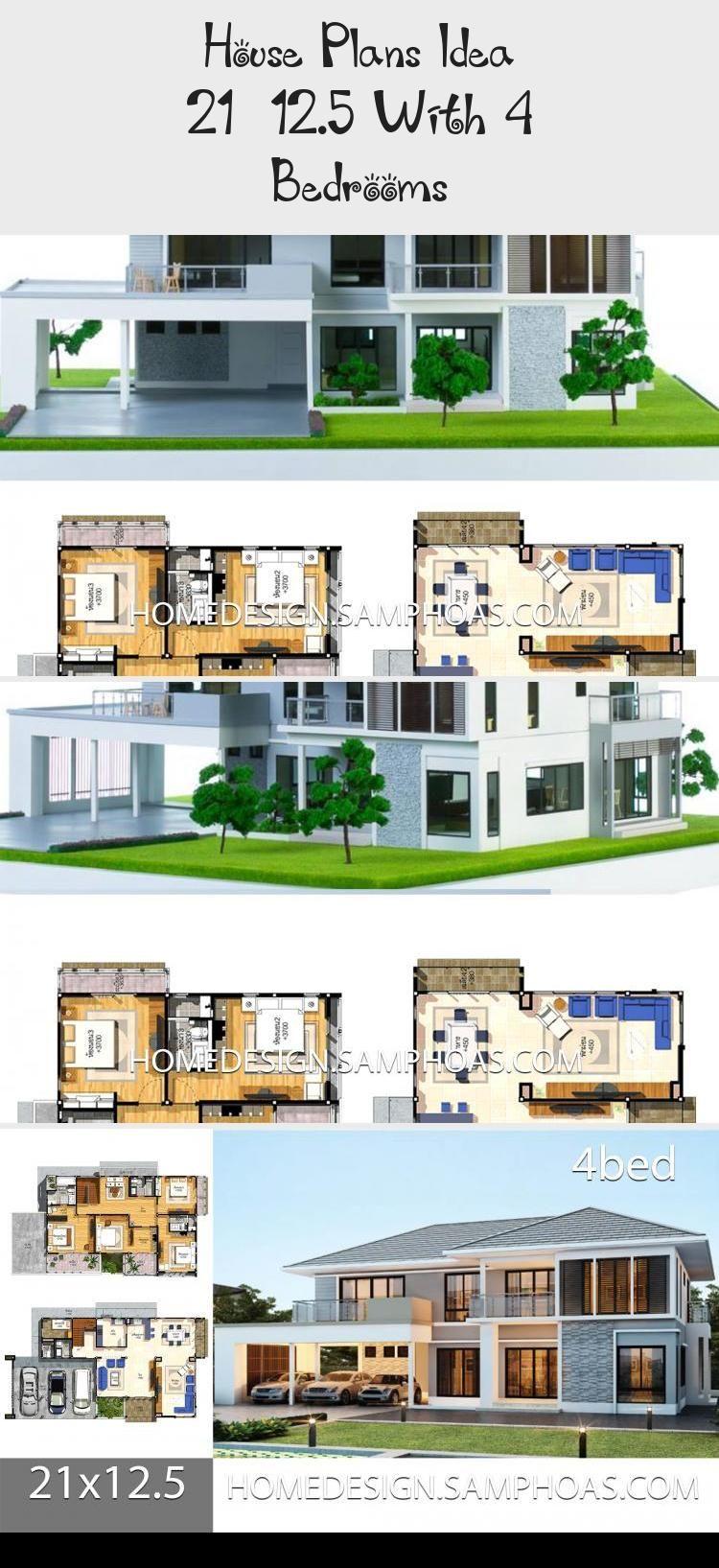 House Plans Idea 21x12 5 With 4 Bedrooms Home Ideassearch Floorplanstiny Bathroomfloorplans Floorplanscr House Plans Cottage Floor Plans Condo Floor Plans