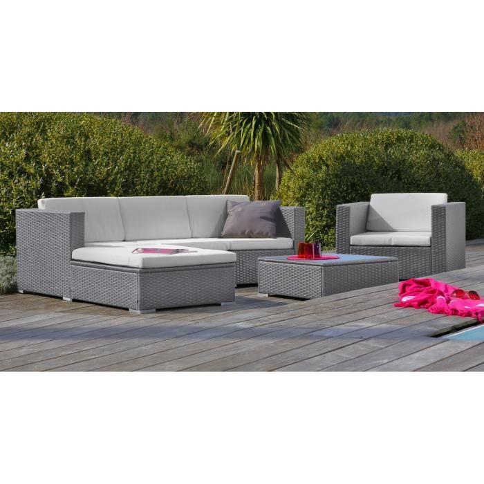 impressionnant soldes salon de jardin rsine tresse gris - Soldes Table De Jardin