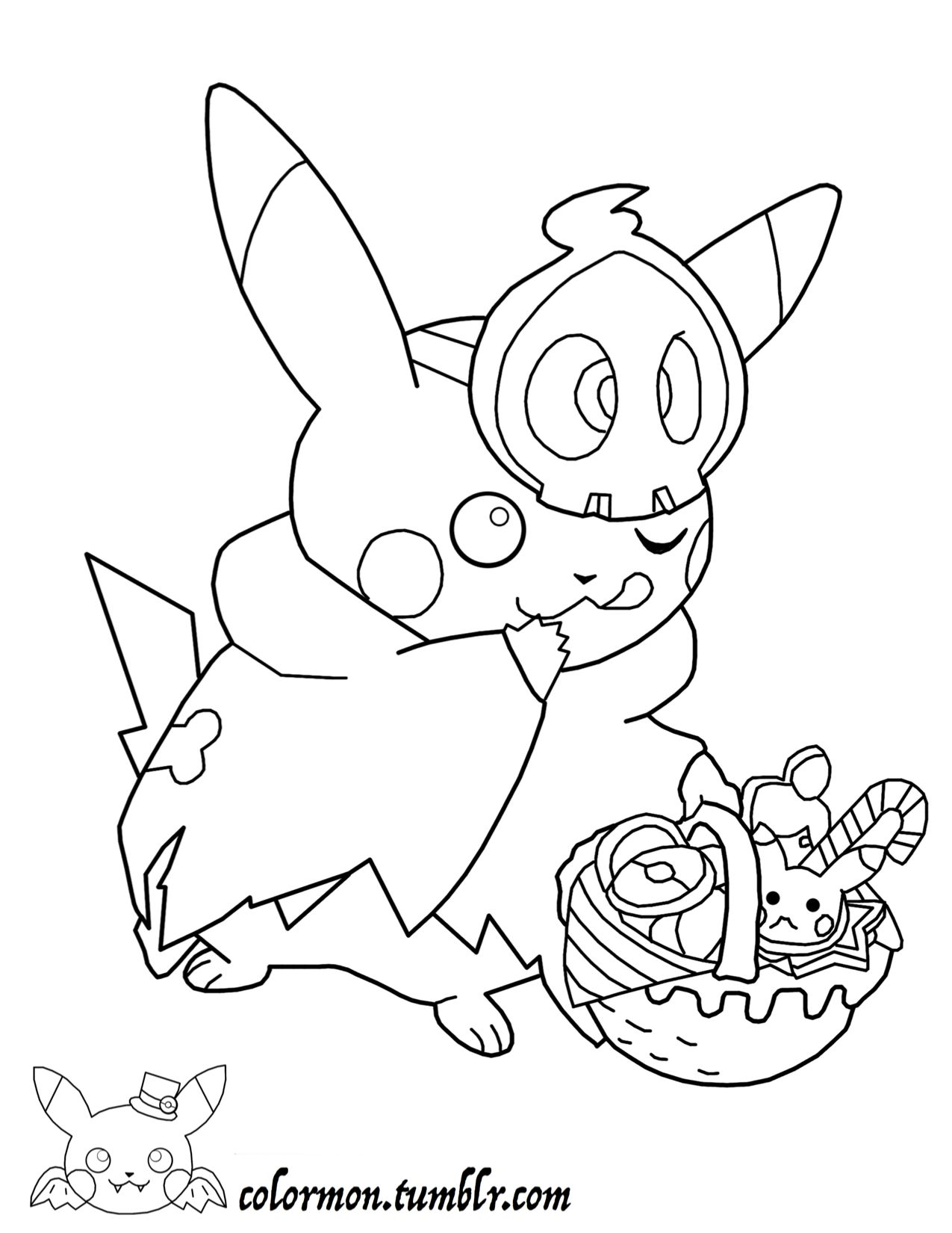 Look at how cute pikachu is all dressed up for Halloween! GOTTA ...