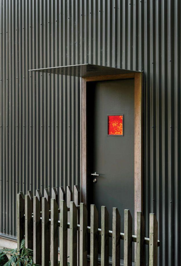 This Compact Japanese Inspired House Enjoys Majestic Views Corrugated Metal Siding Metal Siding Metal Cladding