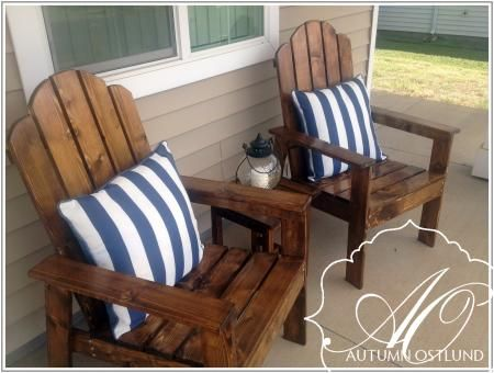 Etonnant Adirondack Chairs | Do It Yourself Home Projects From Ana White.com I Love  The Bright Yellow One I Built, But The Stain On These Is Gorgeous!