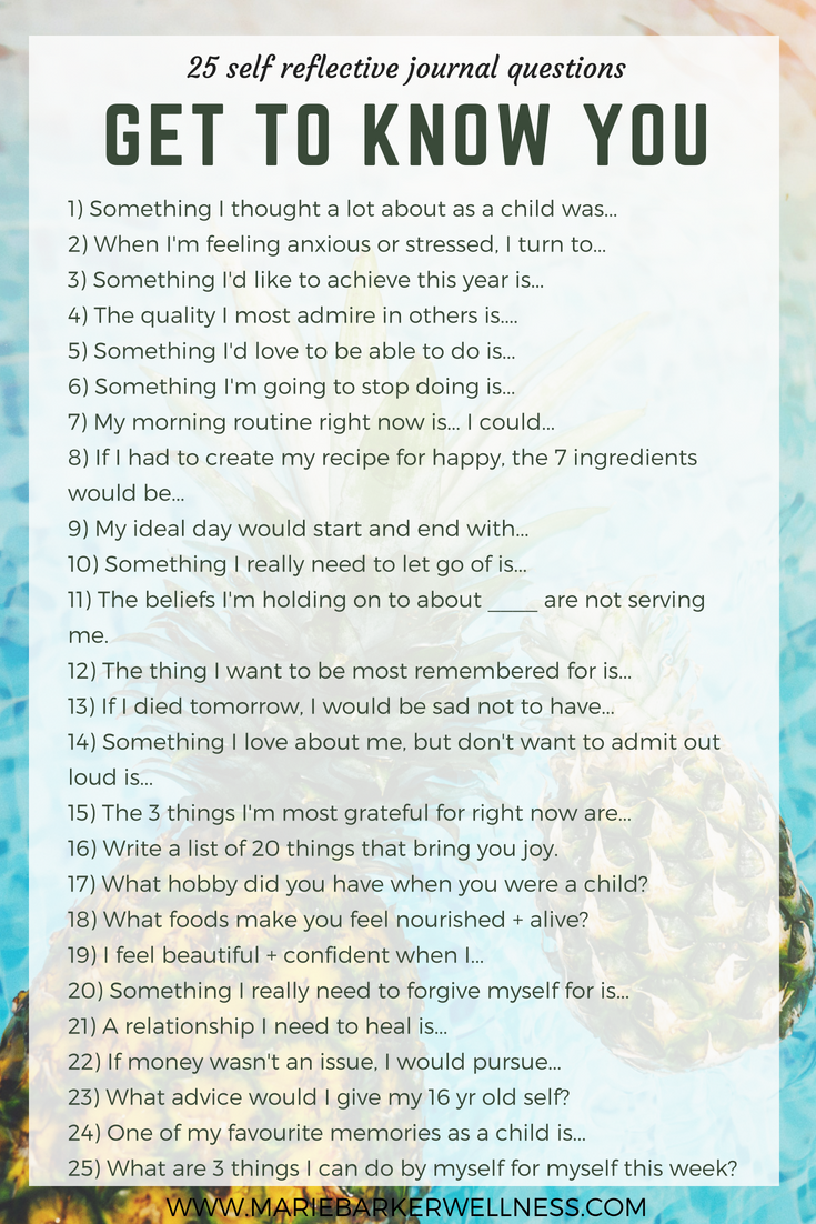 25 Self Reflective Journal Questions