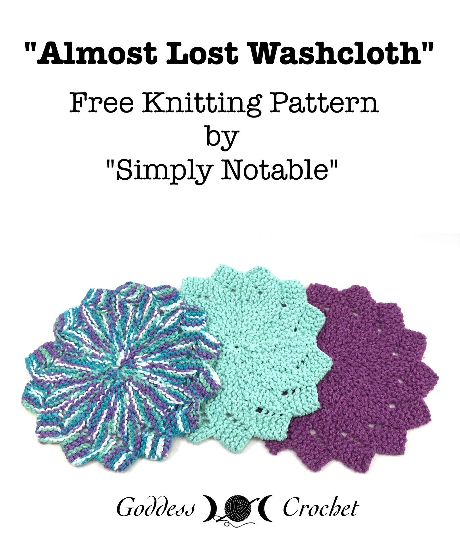 Almost Lost Washcloth - Free Knitting Pattern Review ...