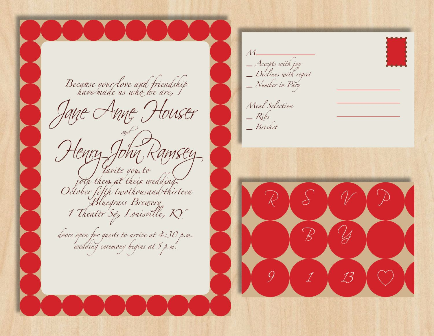 AW! Preppy Polka Dot Wedding Invitation | Stationery Stop | Pinterest