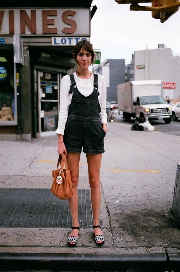 alexa chung does overalls