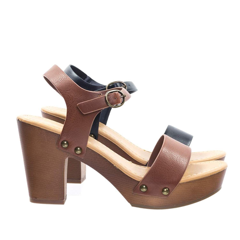 heels, Wooden platform sandals