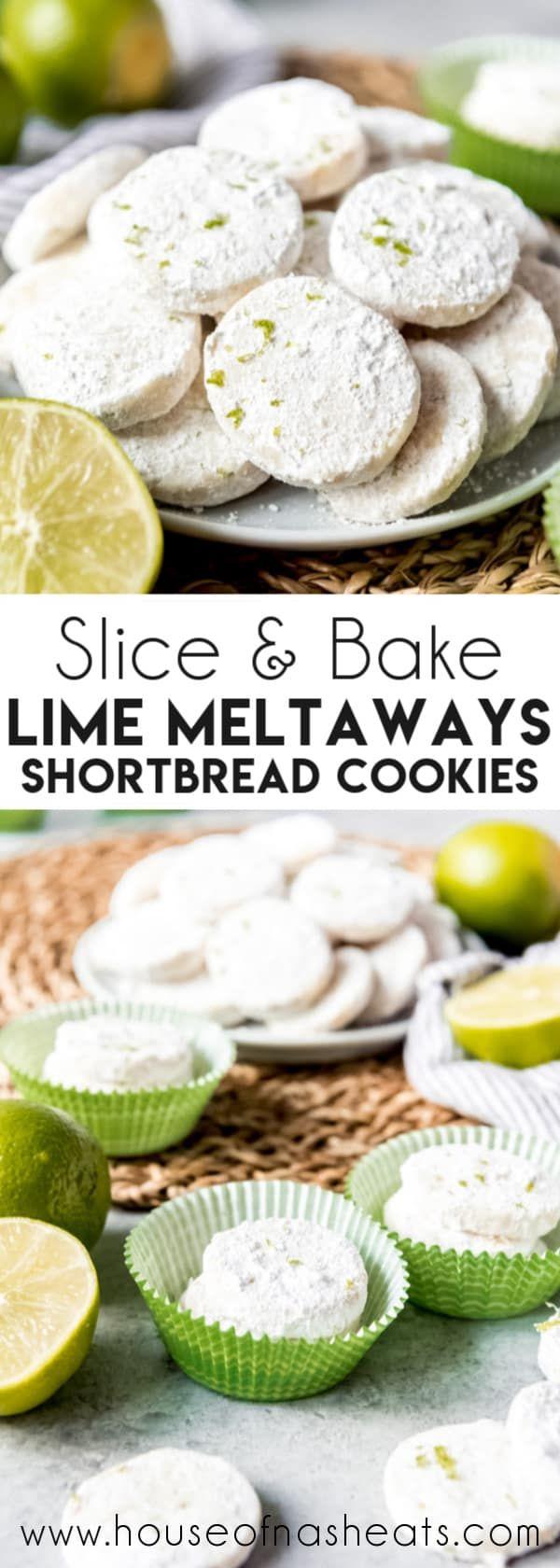 Lime Meltaway Shortbread Cookies