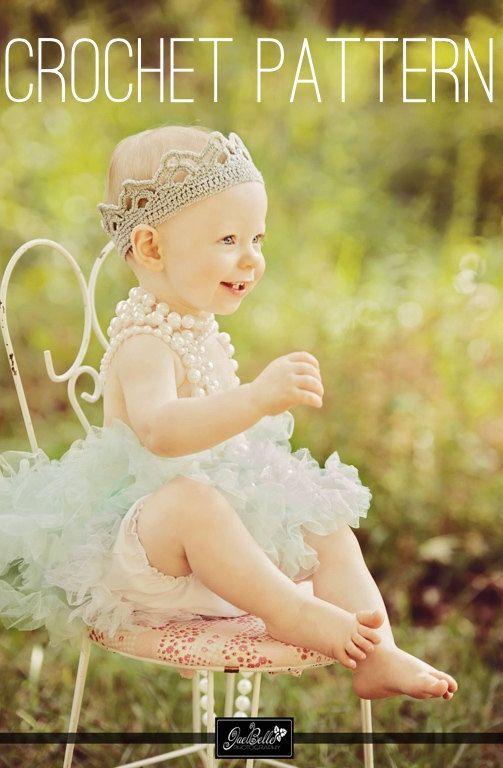 Crochet Crown Pattern - Crochet Pattern - Girl Crown - Princess ...