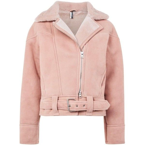 best sale for whole family entire collection Topshop Shearling Biker Jacket (46.440 RUB) ❤ liked on ...