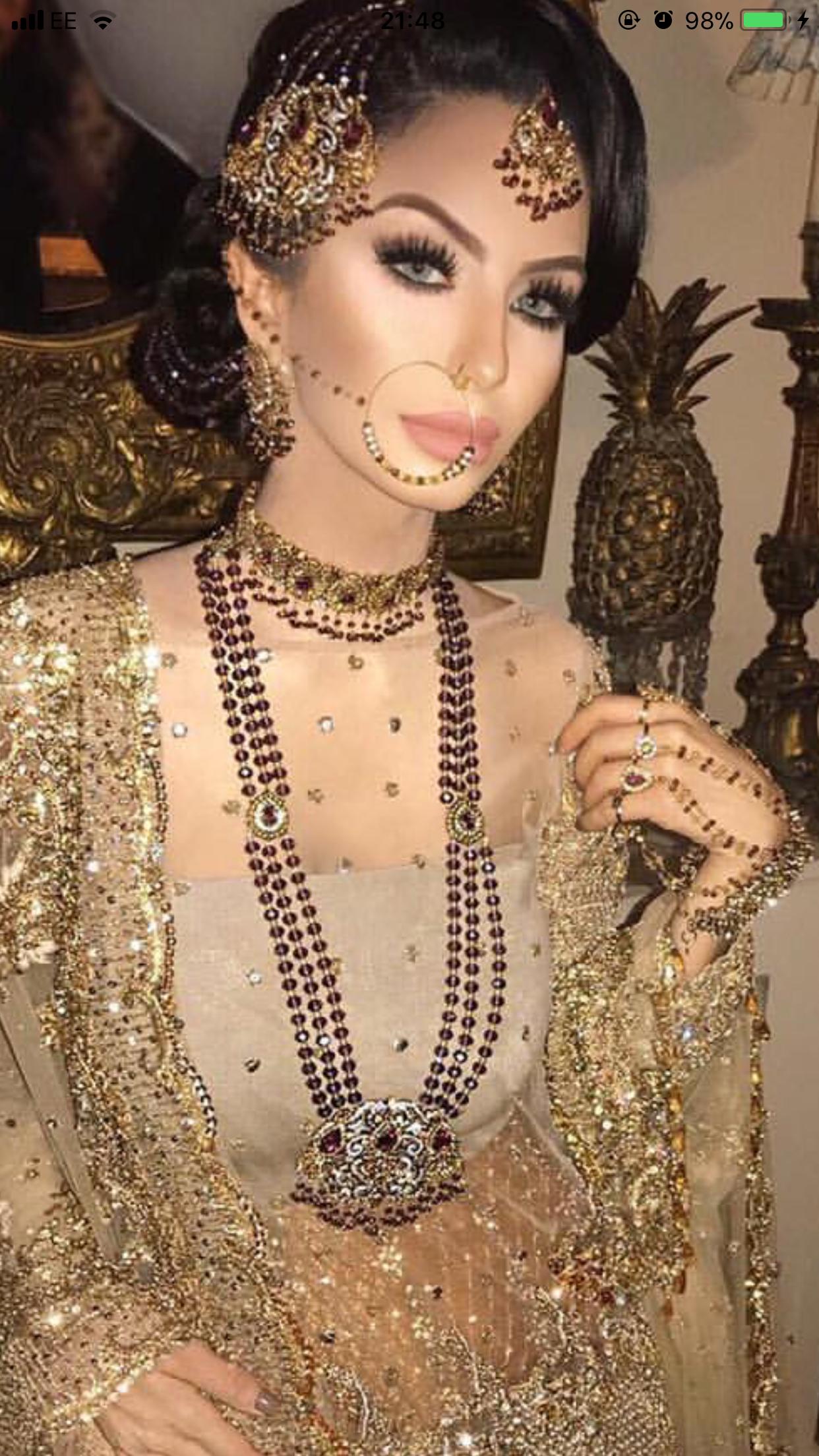 ριηтєяєѕт: @missm_h | makeup in 2019 | pakistani bridal