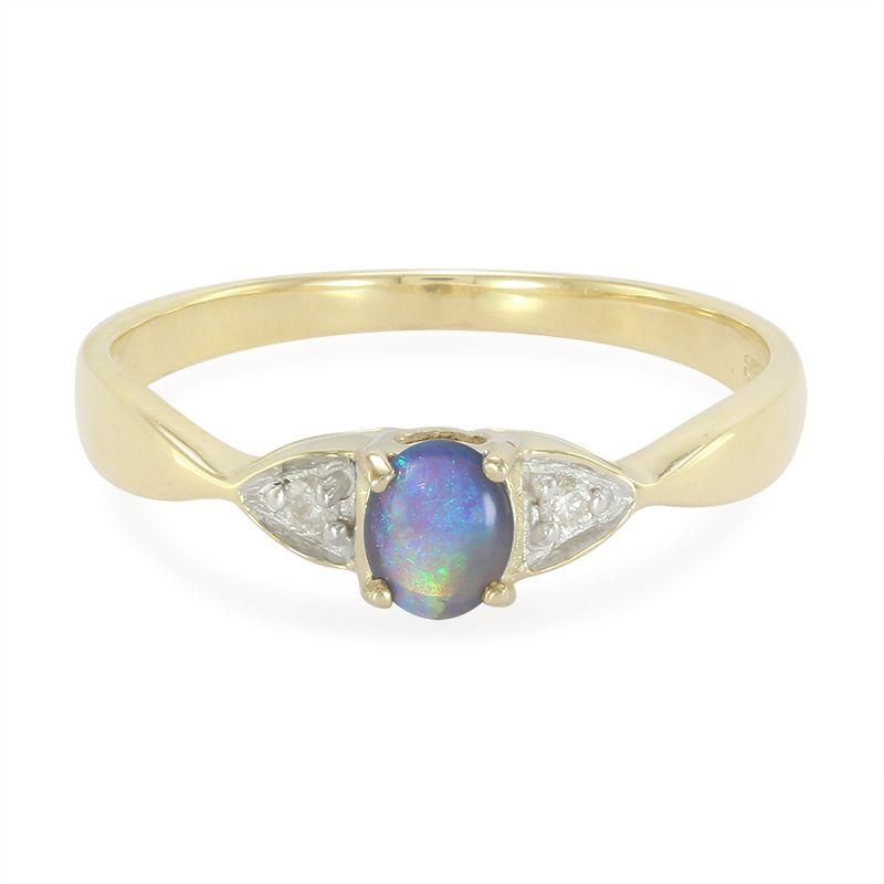 bague or avec opale
