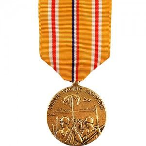 The Asiatic Pacific Campaign Medal   WWII (ACPM) Was Awarded To Any Member  Of The United States Armed Forces Who Service In The Pacific Theater During  World ...