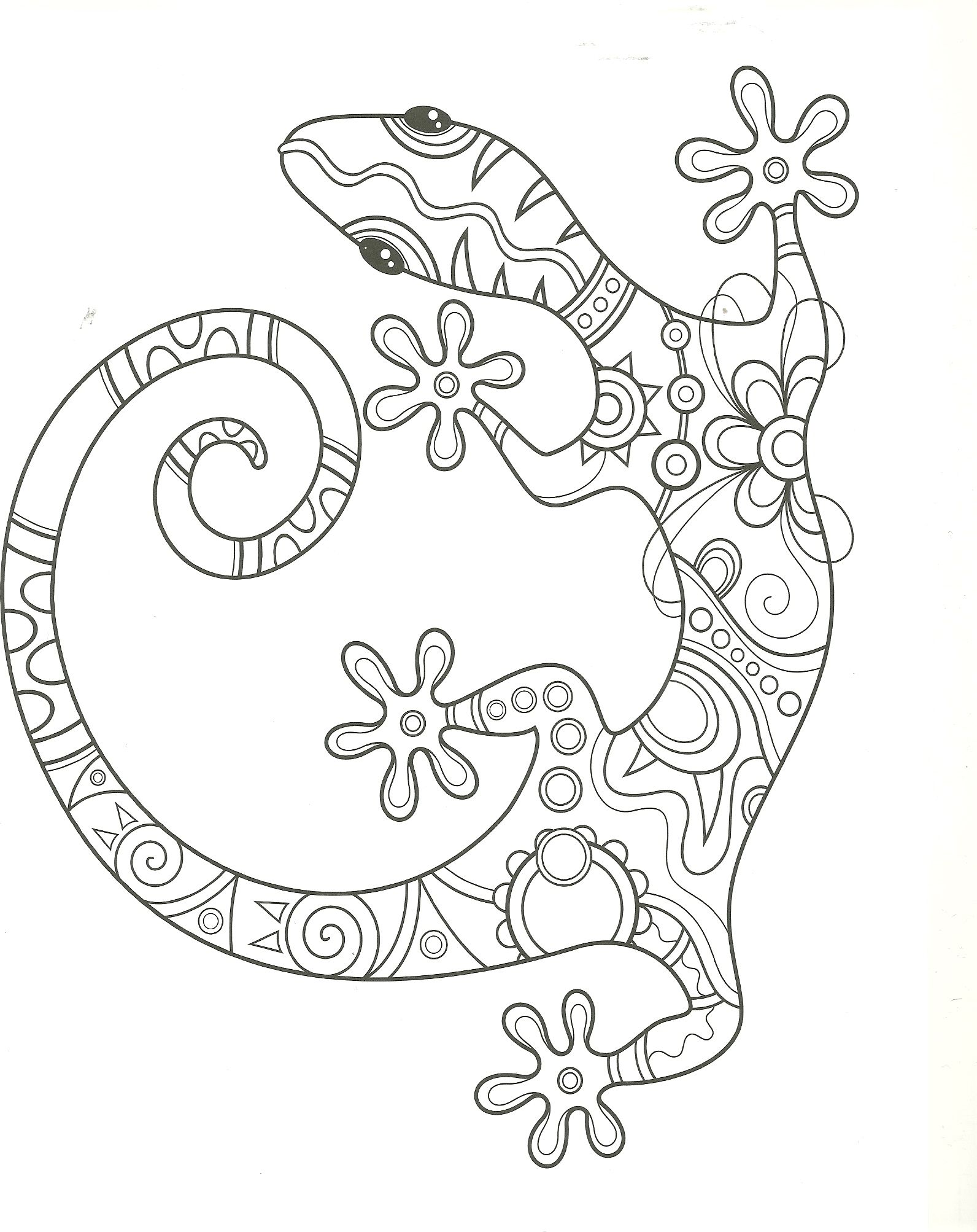 lizard coloring page | my coloring pages | Pinterest | Lizards