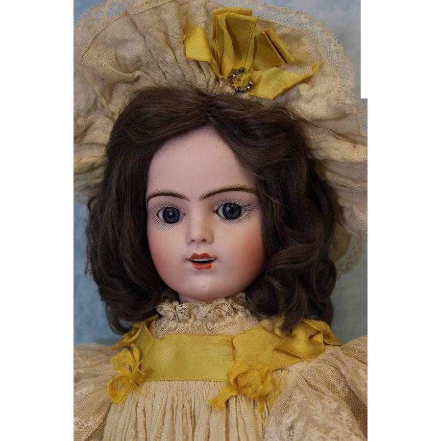 "22"" Antique French Bisque Bru Jne R Doll original labeled box, Antique from turnofthecenturyantiques on Ruby Lane"