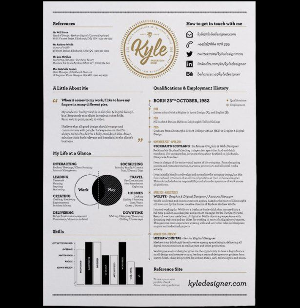 Fantastically Creative Resume And Cv Examples  Steven Snell