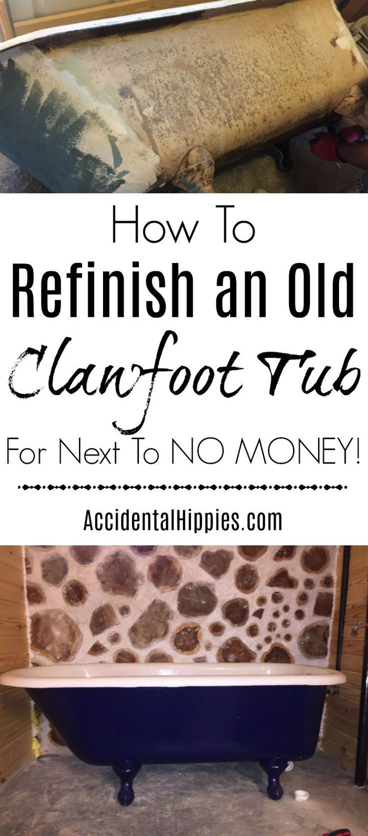 How to Find and Refinish an Old Cast Iron Clawfoot Tub | Pinterest ...