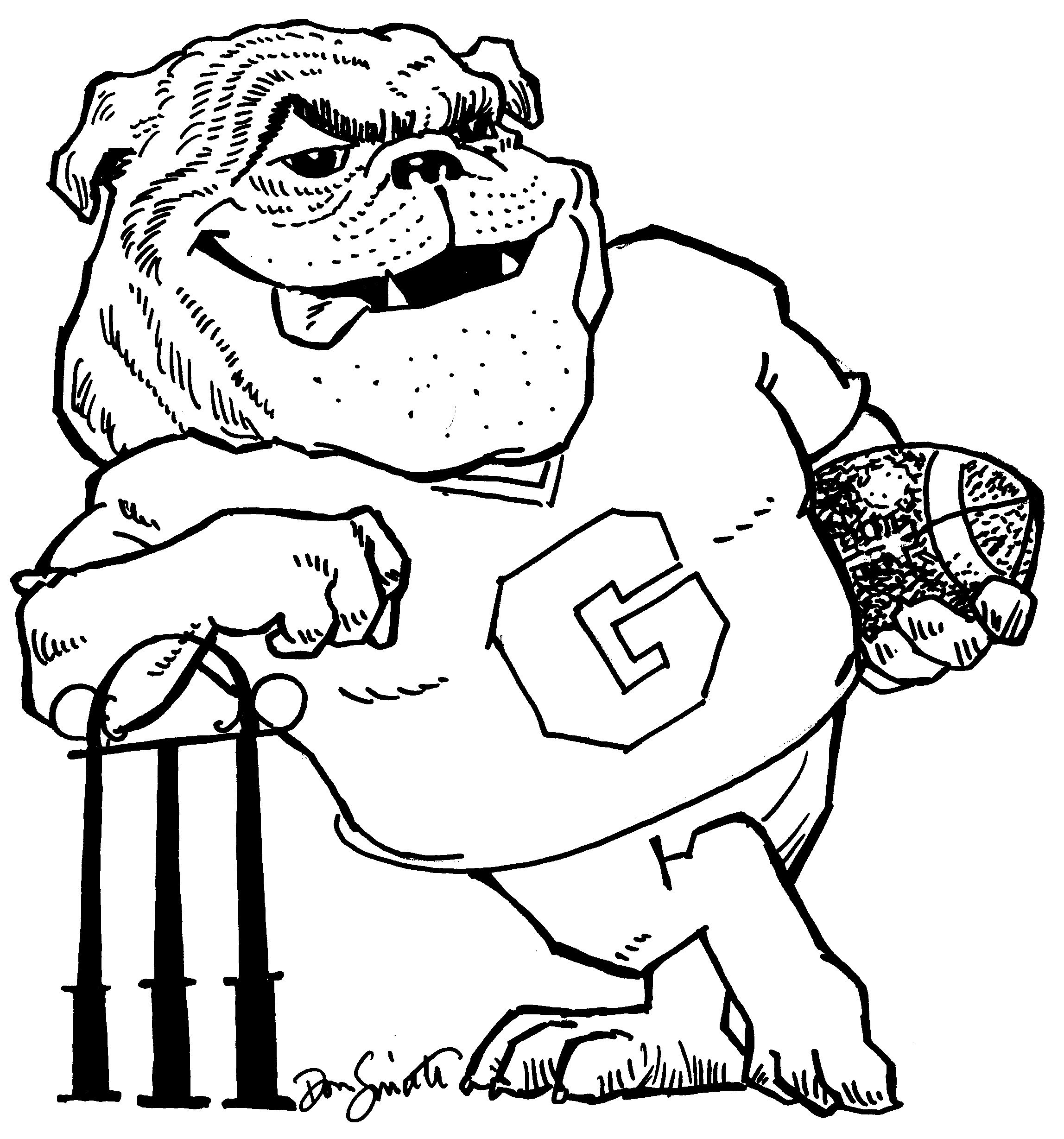 Uga Alumni Dawg Coloring Sheet Printable Puppy Coloring Pages