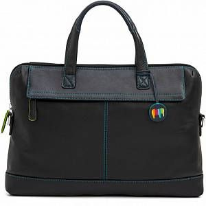 Photo of mywalit Slim Office Cartella pelle 40 cm scomparto Laptop black/pace