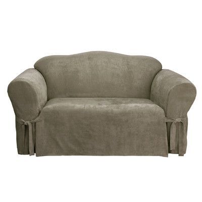 Sure Fit Soft Suede Loveseat Slipcover Upholstery: