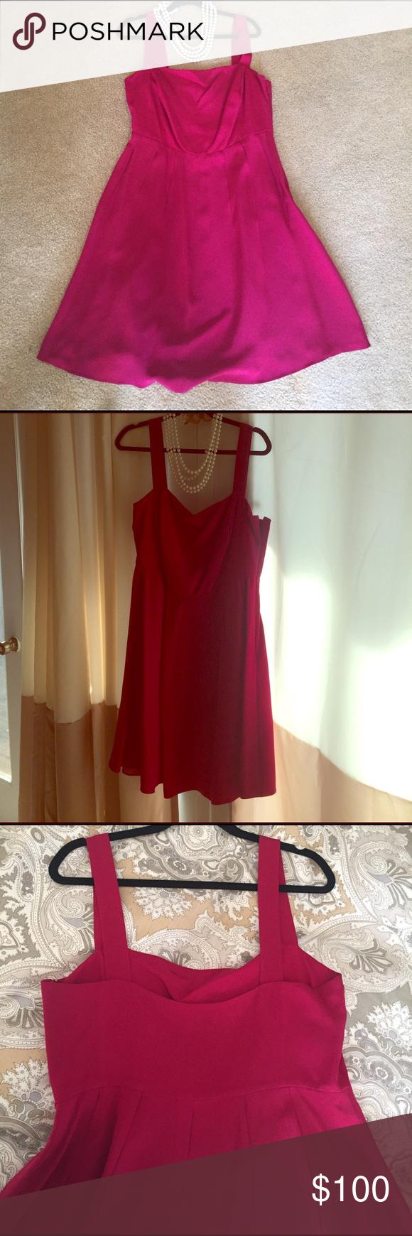 Raspberry jcrew bridesmaid dress real divas are large on the