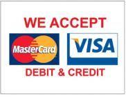 Visa Mastercard 2 X 3 Vinyl Business Banner Bn0072 Credit Card Sign Card Banner Visa Mastercard