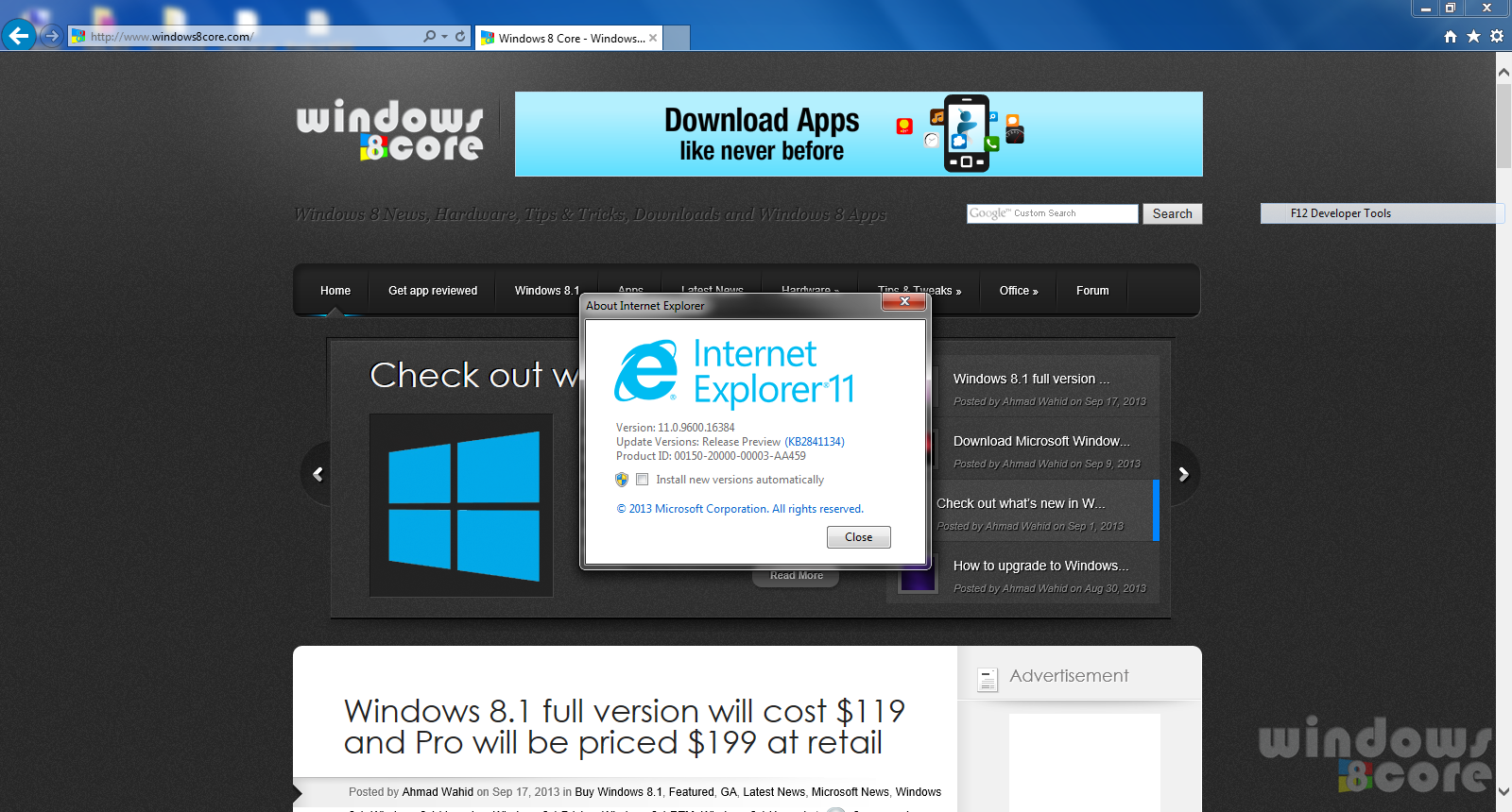 Download Internet Explorer 11 (Release Preview) for Windows