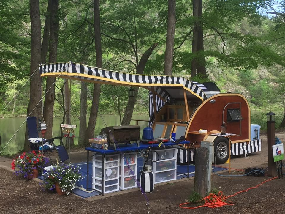 Teardrop Camper Awning Reveal | Teardrop camper, Camper ...