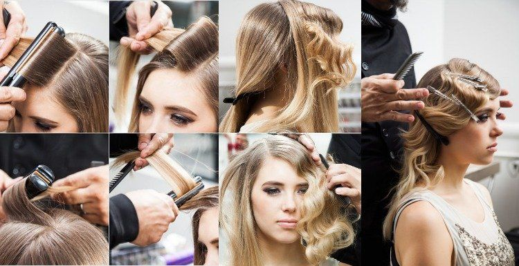Make 20s Hairstyles Yourself 40 Hairstylings For The Theme Party New Hair Styles 2018 20er Jahre Frisur Haar Styling 20er Frisuren