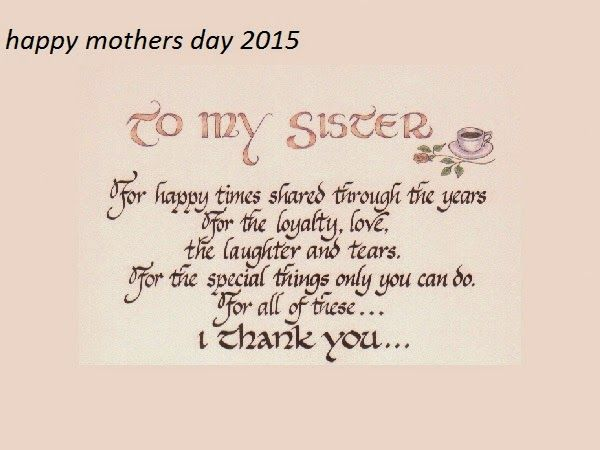 Image Result For Happy Mothers Day To A Sister Cards Quotes